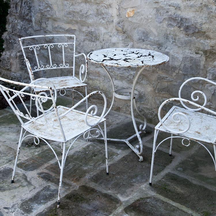 gartenst hle mit tisch 1950er jahre. Black Bedroom Furniture Sets. Home Design Ideas