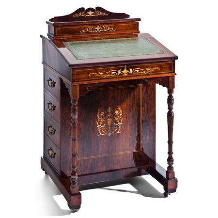 Davenport Schreibpult, England Mitte 19. Jahrhundert