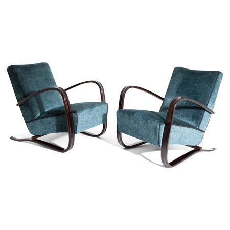 Lounge Sessel von Jindrich Halabala, Tschechien 1930er