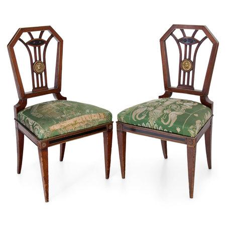 Klassizistische Stühle, wohl G. A. Pohle, Wien um 1805/10