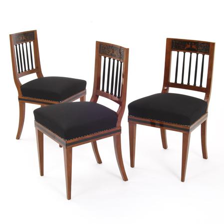 Biedermeier Stühle, Mitteldeutsch 1820
