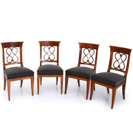 Biedermeier Stühle, deutsch um 1830