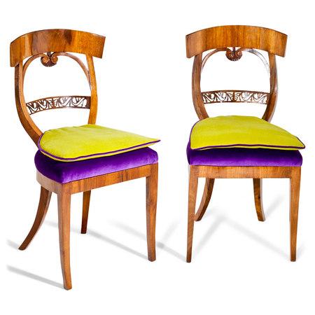 Biedermeier Stühle um 1825