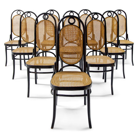 Zehn Stühle nach Thonet, 20. Jahrhundert