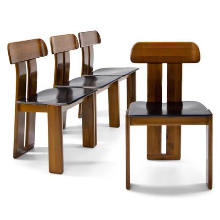 Vier Stühle attr. Afra & Tobia Scarpa für Maxalto, Italien 1970er