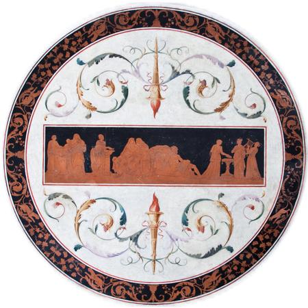 Scagliola Tischplatte, 1. Hälfte 19. Jahrhundert