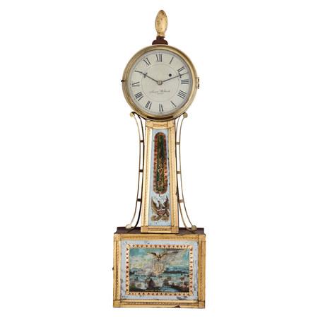 Banjo Uhr, sig. Aaron Willard, Boston 1. Hälfte 19. Jahrhundert