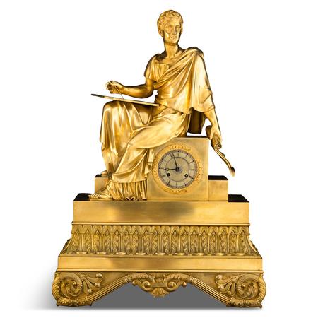 """Pendule """"Philosoph"""", Restaurationszeit Frankreich, Werk datiert 1823"""