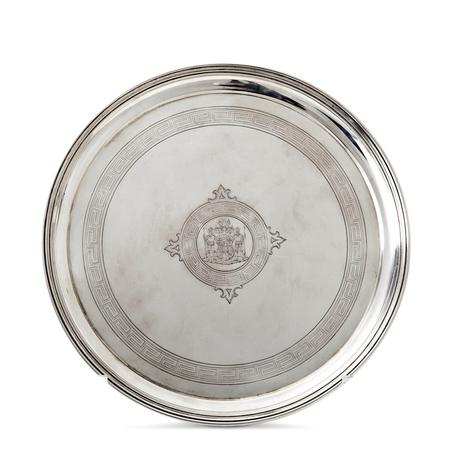 Silber Tablett der gräflichen Familie Westarp, Wilm Berlin ca. 1870