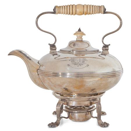 George IV Silberne Teekanne, Dublin 1828-29