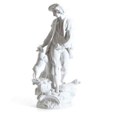 Meissen Porzellanfigur, Schäfer mit Hund