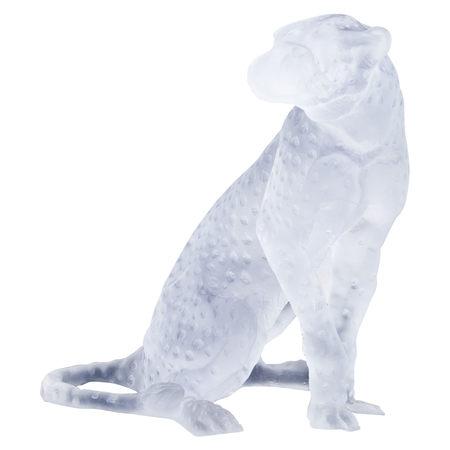 Glasskulptur eines Leoparden, Daum France