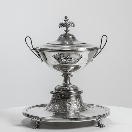 Paar Silber Deckelterrinen, Johann Georg Hann, Wien, 1800