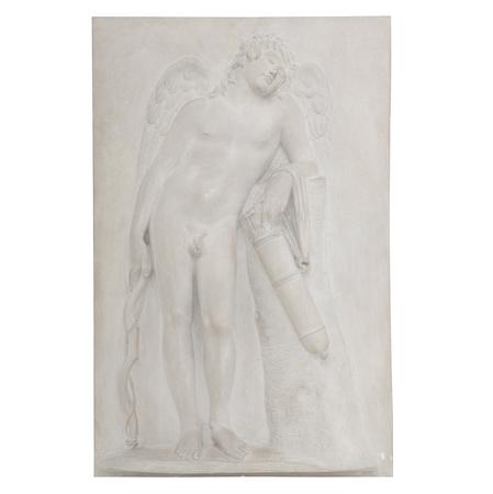 Relief Ruhender Eros nach Schadow, Deutschland, 2. Hälfte 19. Jhd.
