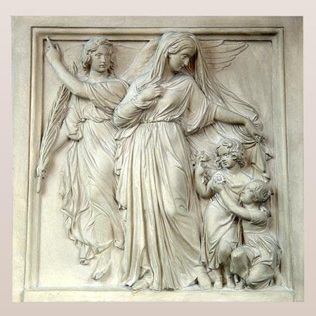 Relief mit Heiligendarstellung