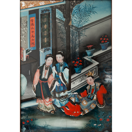 Chinesisches Hinterglasbild, 19. Jhd.