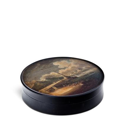 Lackdose mit Malerei nach Chatelet, Berlin um 1820