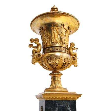 Empire Deckelvase, Frankreich 1. Viertel 19. Jahrhundert