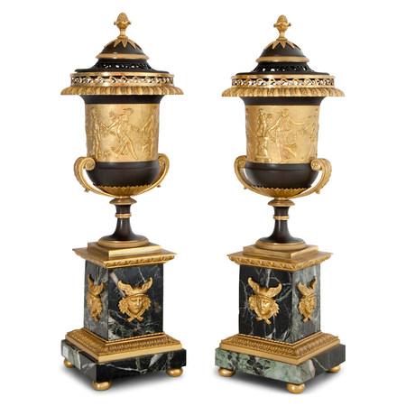 Paar Brûle-Parfum, Frankreich um 1805