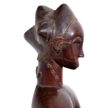 Frauenfigur der Baule, Elfenbeinküste um 1900-1920