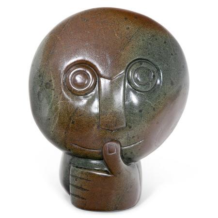 "Skulptur ""Thinking"", Simbabwe, Mucaera um 2000"