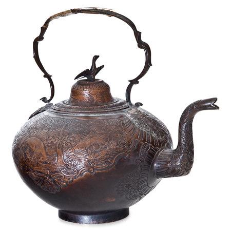 Kupferne Teekanne, Russland um 1760