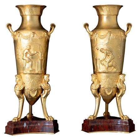 Bronzeamphoren, Levillain & Barbedienne, Frankreich Ende 19. Jahrhundert