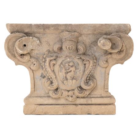 Sandstein Kapitell, wohl 18. Jahrhundert