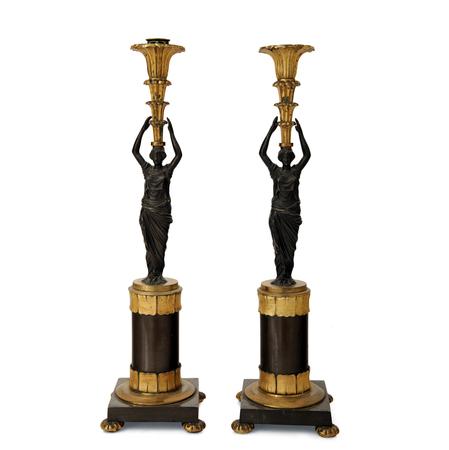 Empire Leuchterpaar, 1. H. 19. Jhd.