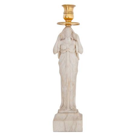Alabaster Kerzenhalter, 1. Hälfte 19. Jahrhundert