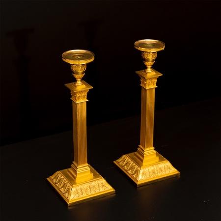 Paar Kerzenleuchter, Empire, Schweden, Anfang 19. Jahrhundert