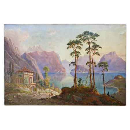 Franz Wilhelm Leuteritz (1817-1902) – Blick auf den Como See, 1901