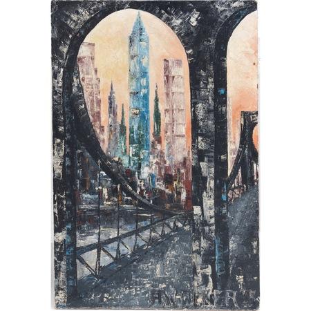 A. Walker (sig.) Stadtansicht, 20. Jahrhundert