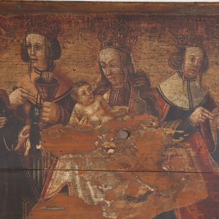 Gotisches Altarbild, wohl alpenländisch