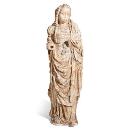 Alabaster Madonna, Nordfrankreich 16. Jahrhundert