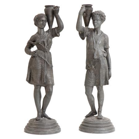 Bronzefiguren, Afrikanische Einheimische, 19. Jahrhundert