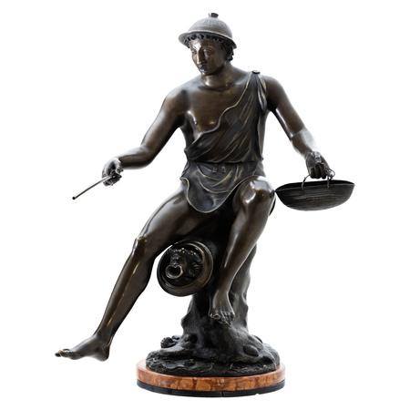 Hermes Bronze, sig. Sabatino, Italien 1882