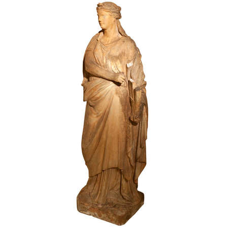 Terrakotta Statue der Terpsichore, Österreich, 2. Hälfte 19. Jhd.