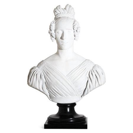 Portraitbüste einer Dame, datiert 1837