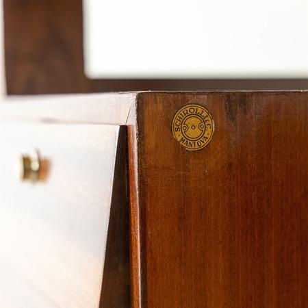 Gio Ponti Schreibtisch für Schirolli & Co. Mantova 1950er Jahre