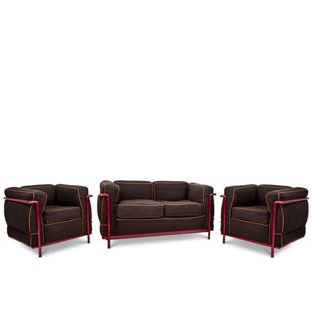Cassina Le Corbusier LC2 Lounge Set, 1965