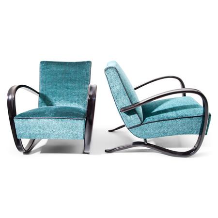 Lounge Sessel von J. Halabala, Tschechien 1930er