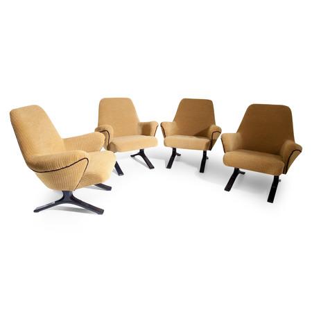 Lounge Sessel, Italien Mitte 20. Jahrhundert