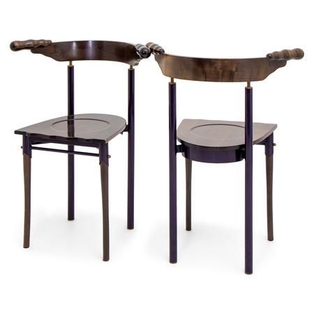 "Borek Sipek, ""Jansky"" Stühle für Driade, Italien 1980er"