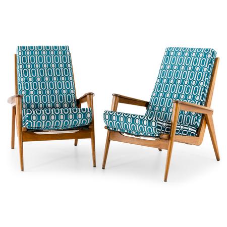 Italienische Lounge Sessel, Mitte 20. Jahrhundert