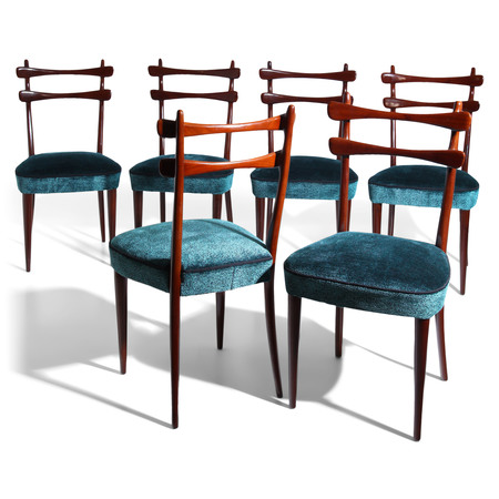 Stühle, attr. Vittorio Dassi, Italien 1950er Jahre
