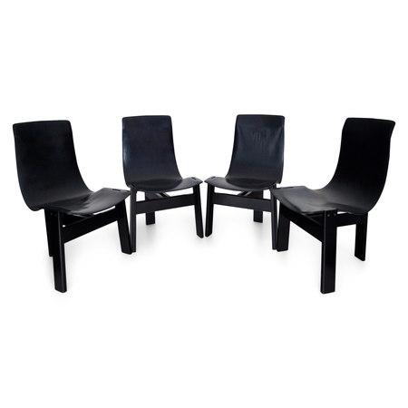 'TRE 3' Stühle von Mangiarotti, Italien 1970er/80er