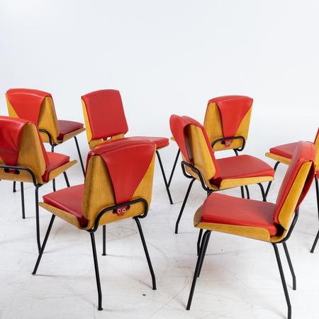Stühle von Carlo de Carli, Italien 1950er Jahre