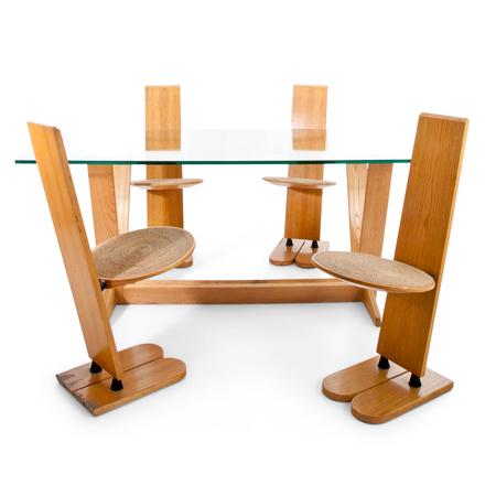 """""""Pala"""" Stühle und Tisch von Gigi Sabadin für Emme, Italien 1970er"""