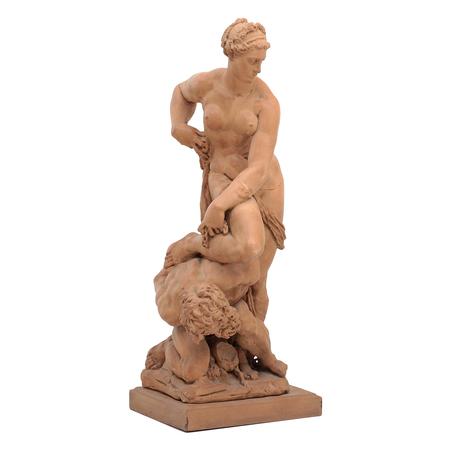 Skulptur Die Versklavung des Menschen durch die Lust nach dem Original von 1588, 19./20. Jhd.